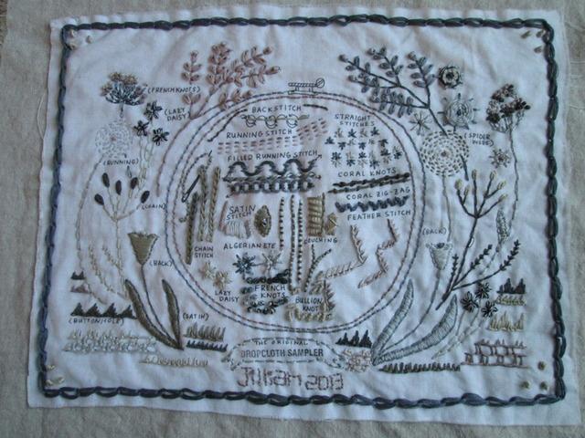 Embroiderelaine favorite shops drop cloth samplers