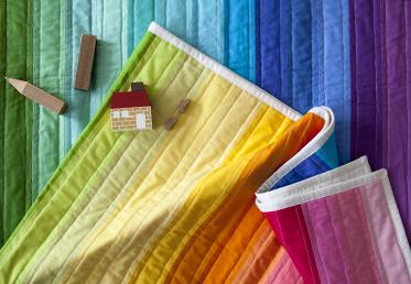 Rainbow Jelly Roll Quilt Top By Heather Jones Creativebug
