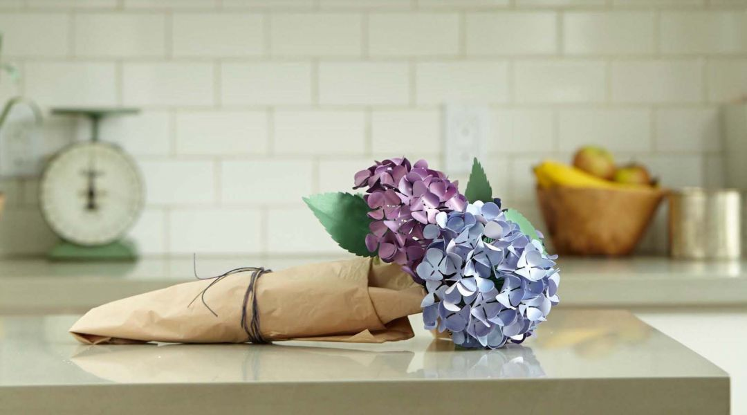cricut paper flowers  make a hydrangea by lia griffith