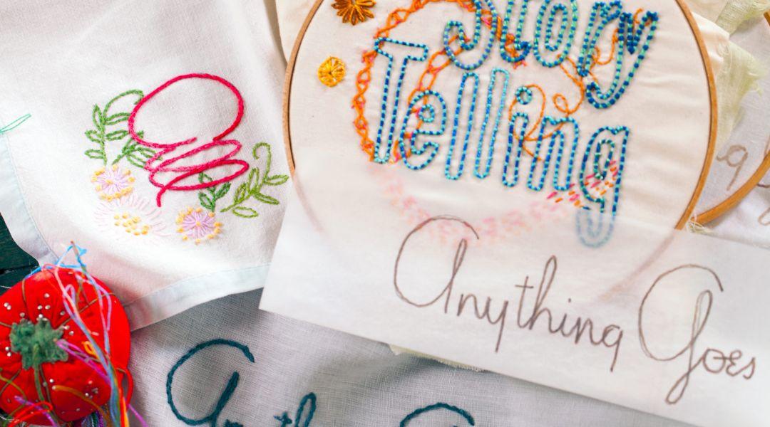 Embroidered knit pillow creativebug