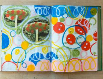 Creative Boot Camp: Get Messy Sketchbook