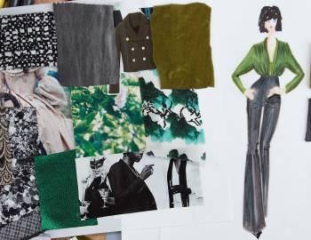 Fashion Illustration with Mood Fabrics
