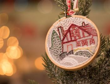 Embroidered Photo Ornament