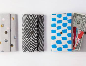 Fold-and-Sew Paper Wallet