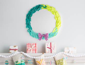 Post-It Holiday Wreath