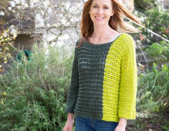 Crochet Colorblocked Sweater