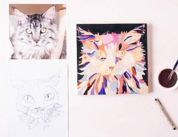 Doodle and Paint an Animal Portrait