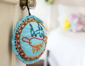 Kid's Embroidered Pillow
