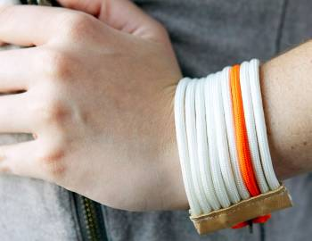 Make a Paracord and Leather Cuff Bracelet