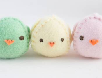 Hand Sew an Easter Chick Softie and Basket