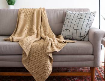Cabled Afghan