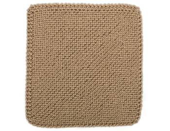 Cabled Afghan: BLOCK A - Bias Garter Stitch Square