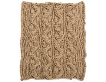 Cabled Afghan: BLOCK C - Snake Cables Square
