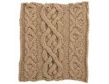 Cabled Afghan: BLOCK G - XO Panels and Ensign's Braid Square