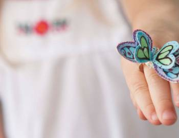 Kids Cricut Crafts: Watercolor Butterfly Rings