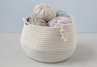 This rope basket is a great home décor project or storage basket!