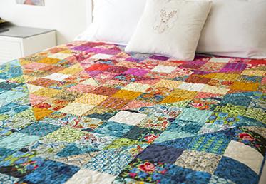 Color Dive Half Square Triangle Quilt By Anna Maria Horner Creativebug