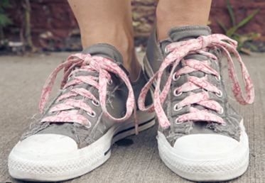 handmade colorful shoe laces