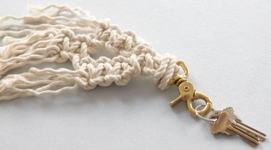 Make a Macramé Key Chain