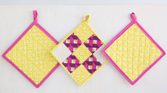 How to Sew Potholders