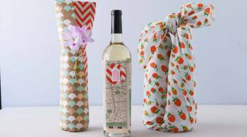 Creative Wine Wrapping