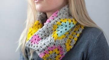 Crochet Hexi Cowl