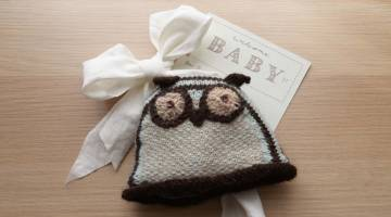 Knit Baby Owl Hat