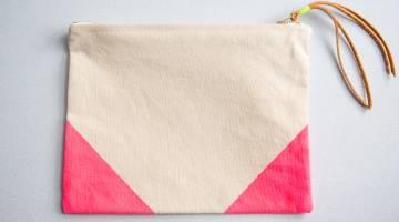 Sew a Canvas Clutch