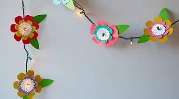 Kids Cricut Crafts: Flower String Lights