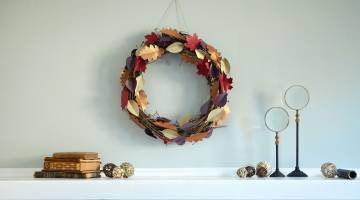 Cricut Crafts: DIY Fall Leaves Wreath