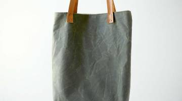 Sew a Waxed Canvas Tote Bag