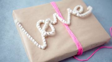 Make Valentine's Day Yarn-Wrapped Wire Words
