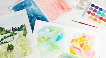 Playing with Watercolor by Lindsay Stripling