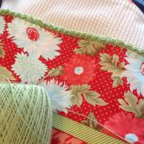 Loved this class!  I used this technique to add decorative scalloped trim to pillowcases I made this week.