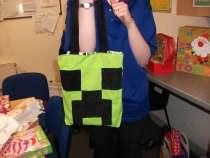 Reversible Minecraft/Panda Tote Bag