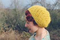 My All Day Beret made with a local alpaca/merino blend. More photos on my blog: luckylucille.com
