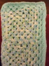 My first baby blanket:)