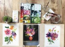 Watercolor Florals with Yao Cheng: 6/8/17