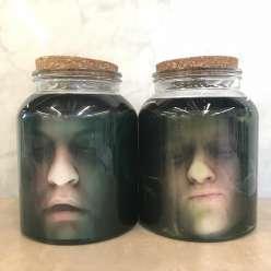 Spooky Heads in Jars: 10/31/17