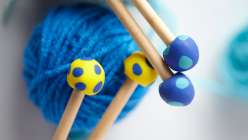 Melanie Falick shows you how to do this diy knitting needle, crafts for kids project. With a dowel rod, polymer clay and basic tools, you and your child can do this kids craft project to make handmade needles.