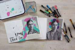 Frida Kahlo Art Journaling with Get Messy Girls 7/26/18