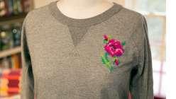 Stitched Rose Embellishment