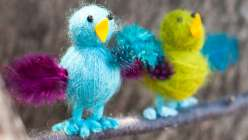 Nicole Blum teaches this child's crafting project in this online kids craft class. As a great crafts for kids project, children can learn how to create yarn birds with this yarn project.