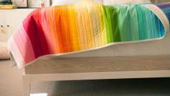 Rainbow Jelly Roll Quilt Top