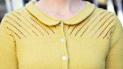Come join Gudrun Johnston in this garment making lesson as she teaches you to make a vintage-style cardigan. This seamless sweater is made top down, with no tails to weave, with decreases, increases, short rows, and simple lacework.