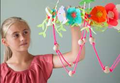 Cricut crafts paper flower chandelier by annabel wrigley creativebug annabel wrigley teaches you with your child how to cut out flowers and vines using a mightylinksfo