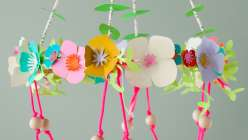 Cricut Crafts: Paper Flower Chandelier