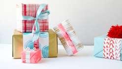 DIY Painted Gift Wrap