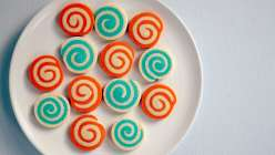 Wilton pinwheel cookies are a fun way to bake with sugar cookies
