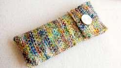 Linen stitch makes a pretty woven pattern